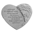 Winged Heart Garden Memorial Stone