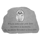 Cross Accented Garden Memorial Stone