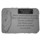 """Those We Love..."" Engravable Angel Garden Memorial Stone"