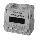 """Gone Yet Not Forgotten"" Engravable Garden Memorial Stone Urn"