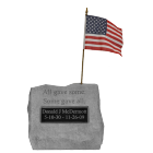 """All Gave Some..."" Engravable Military Garden Stone"