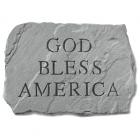 God Bless America Garden Memorial Stone