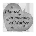 Planted In Memory Of Mother Garden Memorial Stone