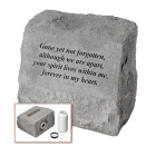 """Gone Yet Not Forgotten...""  Garden Stone With Urn Insert"