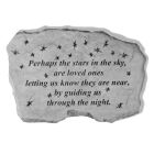 """Perhaps The Stars..."" Garden Memorial Stone"