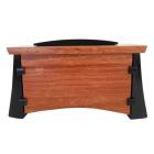 Bubinga & Wenge Wood Horizontal Urn with Keepsake Compartment