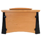 Cherry & Wenge Wood Horizontal Urn with Keepsake Compartment