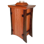 Bubinga & Wenge Vertical Wood Urn with Tea Light