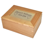 Maple Wood Keepsake Urn with Free Text Engraving!
