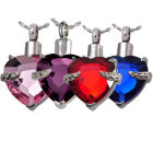 Cremation Jewelry Glass Heart