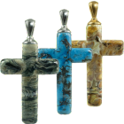 Glass Cross Pendant