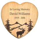 Maple Wood Heart Cremation Box with Free Text Engraving!