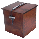 Solid Cherry Wood Urn with Hand Cast Pewter