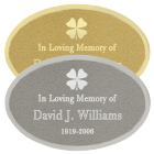 Engraved Oval Shaped Plaque
