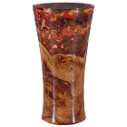 Black Cherry Burl Burnt Orange Copper Wooden Cremation Urn