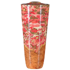 Black Cherry Burl Flute with Coral Resins Wooden Cremation Urn