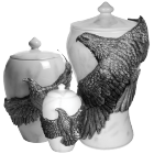 Eagle's Flight Pewter Urn