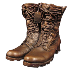 Military Urn: Steadfast Bronze Sculpture Urn- Combat Boots & Dog Tag