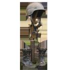 Field Cross Memorial Bronze Sculpture Urn