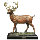 Stag Bronze Sculpture Urn