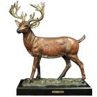 Stag Bronze Sculpture Urn