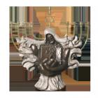 Jerusalem Menorah Bronze Sculpture Urn