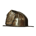 Firefighter Helmet Bronze Sculpture Urn