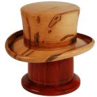 Derby Hat Maple Wooden Urn