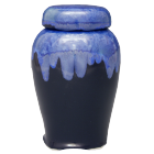 Blue Crystalline Ginger Jar Sharing Urn