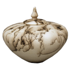 White Micaceous Horsehair Sharing Urn
