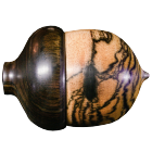 Black & White Ebony Acorn with Asian Ebony Cap