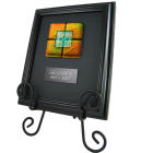 Memorial Glass: Classic Framed Tile, Easel Option