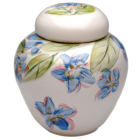 Flower Blossoms Hand Painted Porcelain Urn
