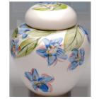 Flower Blossoms Hand Painted Porcelain Urn