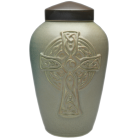 Celtic Cross Porcelain Urn