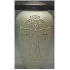 Celtic Cross Porcelain Urn