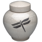 Dragonfly Artisan Pottery Urn