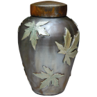 Falling Maple Leaves Urn