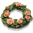 Floral Ceramic Memorial Wreath