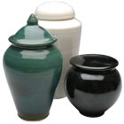 Through Time Porcelain Urn with Optional Shapes and Colors