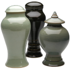 Through Time Porcelain Urn with Pedestal-  Choose Shape & Color