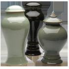 Through Time Porcelain Urn with Pedestal-  Choose Shape & Color