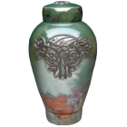 Fiery Celtic Dragon Funeral Urn