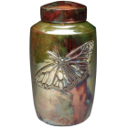 Grace and Elegance Butterfly Raku Urn