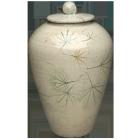 Poetic Maple Leaves Ceramic Urn