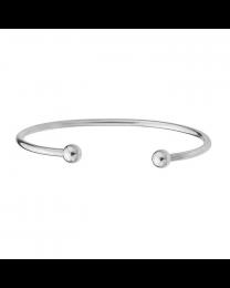 Sterling Ball Cuff Charm Bracelet