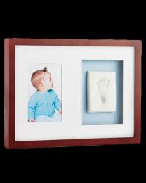 Child Memorial Keepsake: Babyprints Mahogany Frame