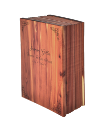 Cedar Wooden Petite Book Urn