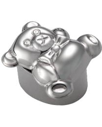 Teddy Bear with Bow-tie Urn Keepsake: Free Engraving