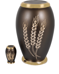 Autumn Harvest Brass Cremation Urn